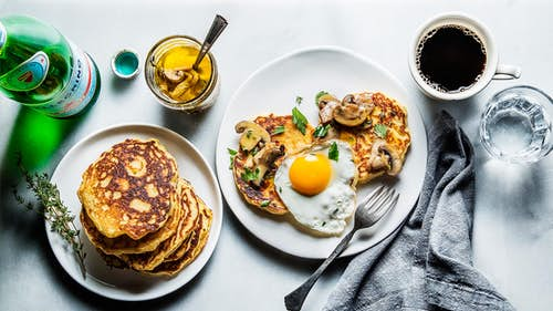Hero-French-Paris-Restaurant-Best-Breakfast-Travel-La-Bourse-et-La-Vie-Ellsworth-Holybelly-Ob-la-di-Egg-Cornmeal-Pancake-Mushroom-Confit-Savory-Brunch-Recipe